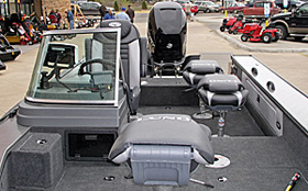 Minnesota Fishing Connections guide trip customers fish in style and comfort in the 2016 Lund Pro-V boat.